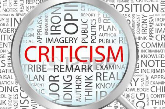 Criticism with  negative emotions