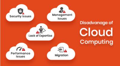 Cloud computing disadvantages